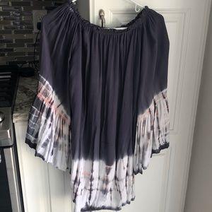 Black Bead Tye Dye Dress